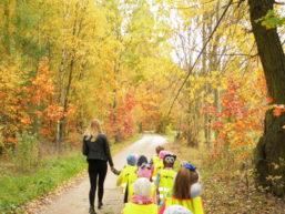 Jesienny spacer przedszkolaków